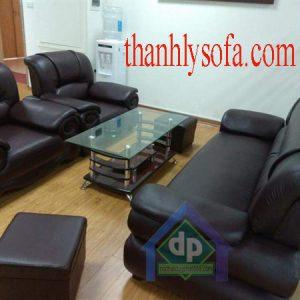 Mẫu sofa thanh lý tại Vĩnh Phúc bằng chất liệu da