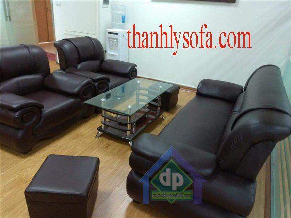 Mẫu ghế sofa thanh lý ở Hải Dương bằng chất liệu da đẹp