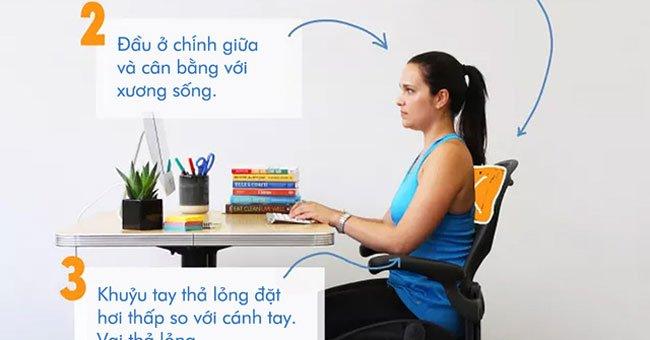 Tư thế ngồi làm việc với máy tính đúng chuẩn KHÔNG bị đau lưng
