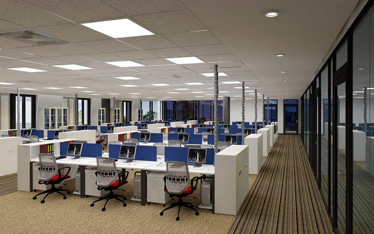 Một số mẫu thiết kế thi công nội thất văn phòng